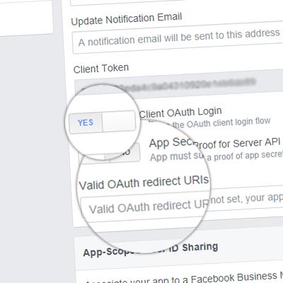 Настройка OAuth-приложения Facebook