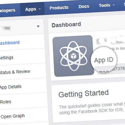 Данные приложения Facebook