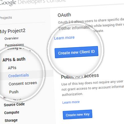 3. Создание OAuth-прав