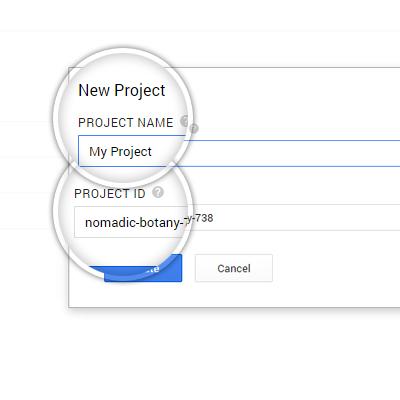2. Определение имени проекта и его ID