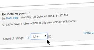 Оценки сообщений форум Moodle