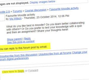 Ответ на форуме через email
